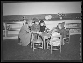 Children at new nursery school, Oregon Shipbuilding Corporation, Portland