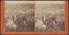 """Panorama of Seattle, (W. T.), from Denny's Hill. No. 2."" (Stereograph 5219)"