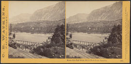 """Ruins of the High Bridge, Middle Block House, Cascades."" (Stereograph 1265)"