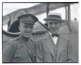 Eddie Rickenbacker and Lieutenant Oakley G. Kelly