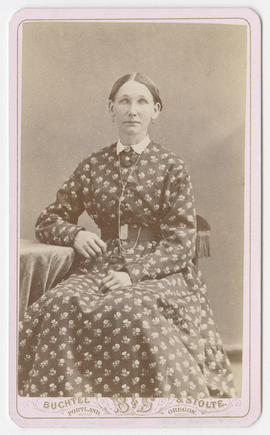 Portrait of an unidentified woman from Buchtel and Stolte Studios
