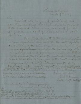 Copy of letter to George Manypenny