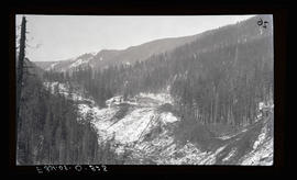 Oak Grove project, logging of penstock line at Three Lynx Camp