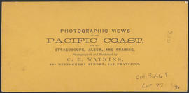 "Verso of, ""Oswego Iron Works, Oregon."" (Stereograph 1213)"