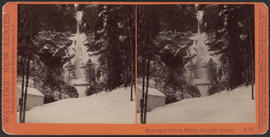 """Multnomah Falls in Winter, Cascades, Oregon"" (Stereograph E37)"
