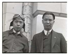 Two unidentified men, possibly pilots