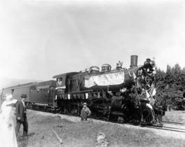 SP&S employee picnic train near Cascades, Washington, August 20, 1916
