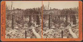 """Long Ravine Bridge from below, 120 feet high."" (Stereograph 42)"