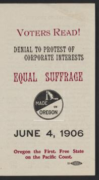 Denial to Protest of Corporate Interests: Equal Suffrage