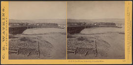 """O.S.N. Co's Works, Dalles City, Columbia River."" (Stereograph 1307)"