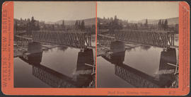 """Hood River Crossing, Oregon."" (Stereograph E17)"