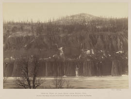 """Winter View of Cape Horn from Bridal Veil."""