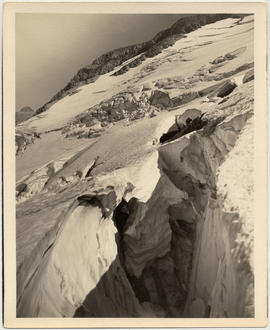 Crevasse and glacier, Glacier National Park