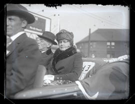 President Woodrow Wilson and First Lady Edith Wilson in car leaving Union Station