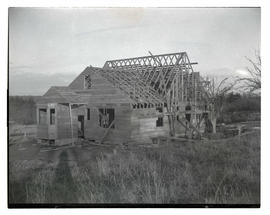 House under construction in rural area