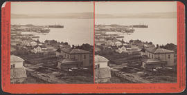 """Panorama of Seattle from Denny's Hill, W. T., No. 7."" (Stereograph 5224)"