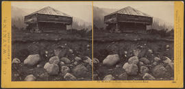 """The Middle Block House, Cascades, Columbia River."" (Stereograph 1260)"