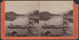 """Salmon Wheel Boat, Columbia River, Oregon."" (Stereograph E14)"