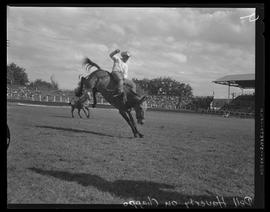 Dell Haverty riding at the Pendleton Round-Up