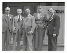 Five men attending 1935 Pacific Northwest Stationers Association convention