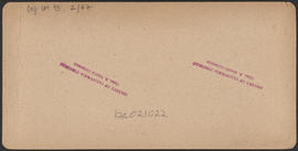 "Verso of, ""Multnomah Falls, 700 feet, Cascades, Oregon."" (Stereograph E4)"
