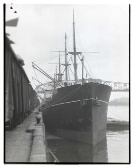 Ship, the Asia, moored in Portland