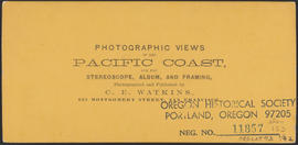 "Verso of, ""Panorama of Oregon City and the Willamette Falls. No.4"" (Stereograph 1217)"