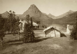 Chalets at Two Medicine Lake, 1912