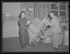 Warehouse workers at Oregon Shipbuilding Corporation, Portland