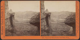 """View from Witch Rocks, near Echo, Utah. U. P. R. R."" (Stereograph 2761)"