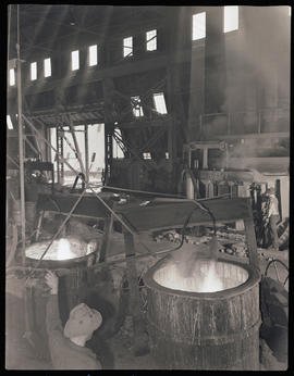 Worker at Columbia Steel Casting Company