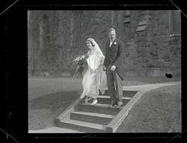 Harriet Cumming and Hamilton Corbett on wedding day