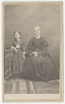 Unidentified young girl and woman