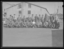 Security officers at Commercial Iron Works, Portland