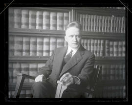 Unidentified man, seated, half-length portrait