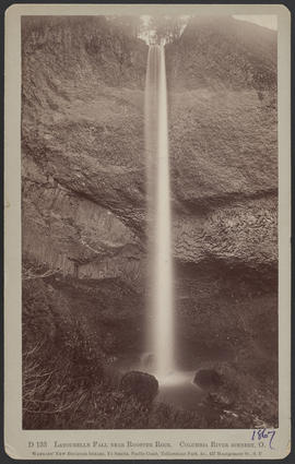 """D133. Latourelle Fall near Rooster Rock. Columbia River scenery, O."""
