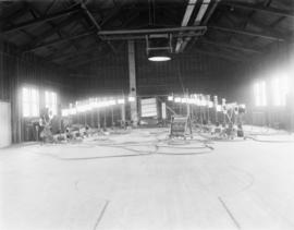Light array at film stage, Kiser Studio