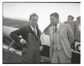 Pilots Frank M. Hawks and Tex Rankin at Swan Island airport, Portland