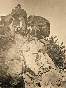 On the summit of Mt. Scott, 1903