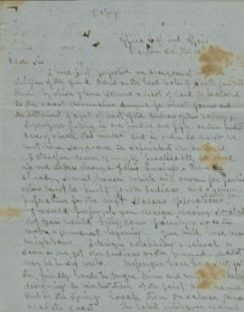 Copy of letter to Jeffers of Astoria