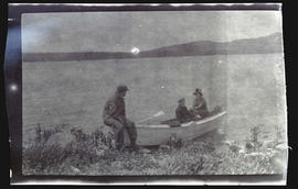 Unidentified people in a boat