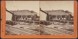 """Officer's Quarters O.S.N. Co., Dalles City, Columbia River."" (Stereograph 1311)"
