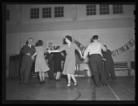 Dancing class at Peninsula Park community house, directed by Margo Wright