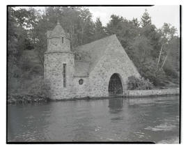 Boathouse at Carl C. Jantzen estate, Lake Oswego, Oregon