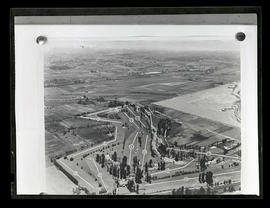 Aerial photograph and diagram of golf course, possibly Alderwood Country Club