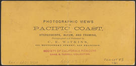 "Verso of, ""Rooster Rock."" (Stereograph 1228)"