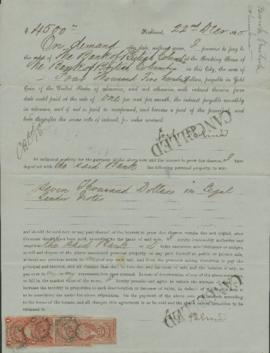 Promissory note from Bank of British Columbia