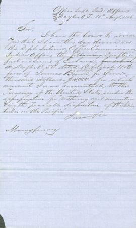 Letter to George Manypenny