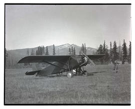 Airplane in field