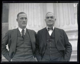 Paul F. Burris and W. Fred Drager outside Oregon State Capitol